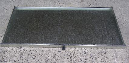 Australian made galvanised steel drip tray